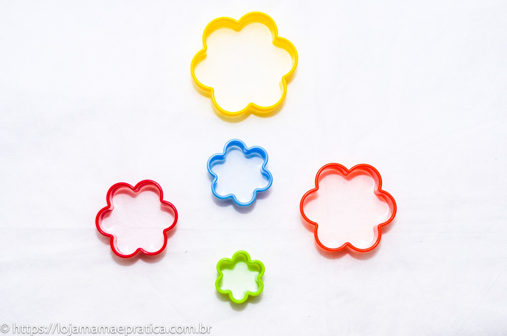Conjunto de cortadores coloridos - 5 peças