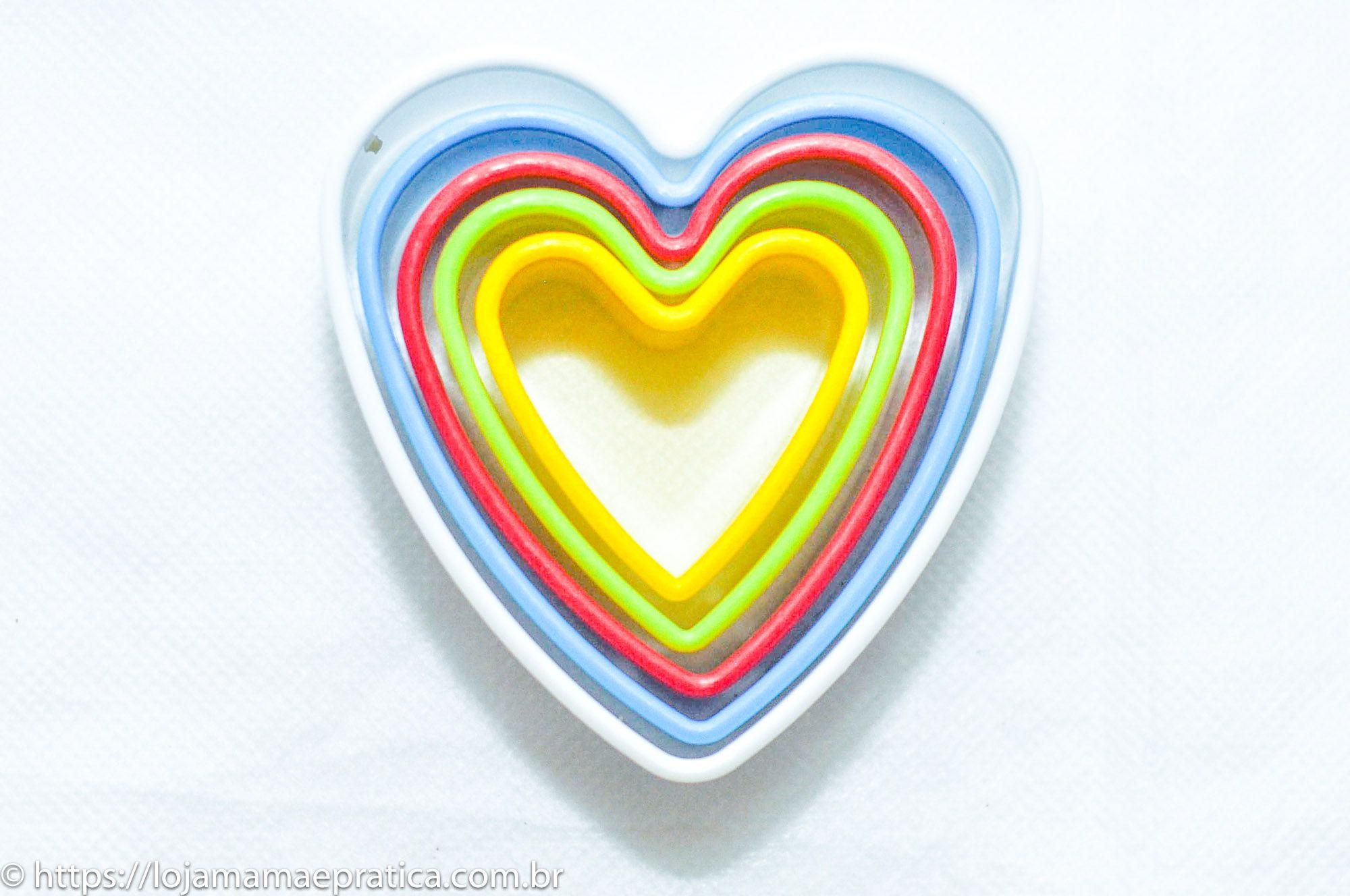 Cortador Coração c/ estojo (5 peças)