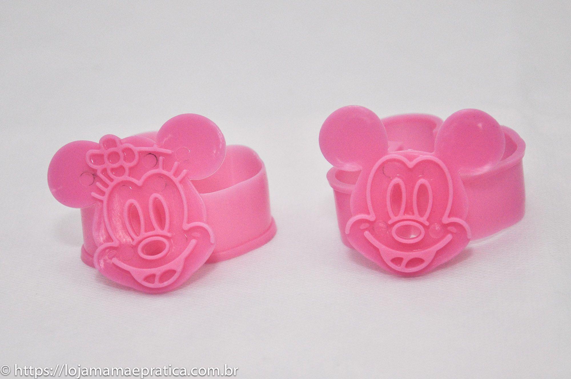 Cortador c/ marcador Mickey e Minnie (2 peças)