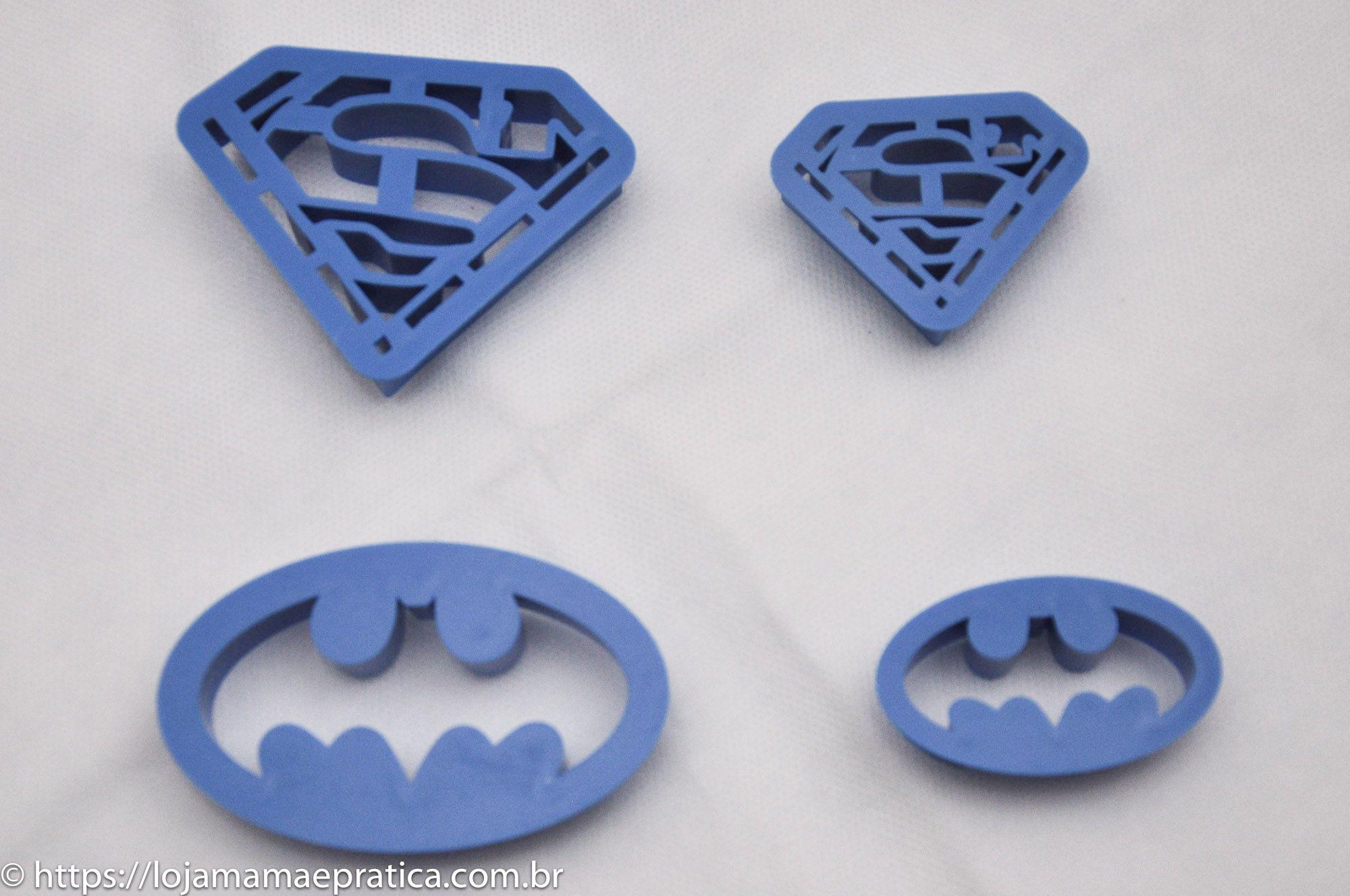 Conjunto de cortadores  - Super Amigos - 4 peças