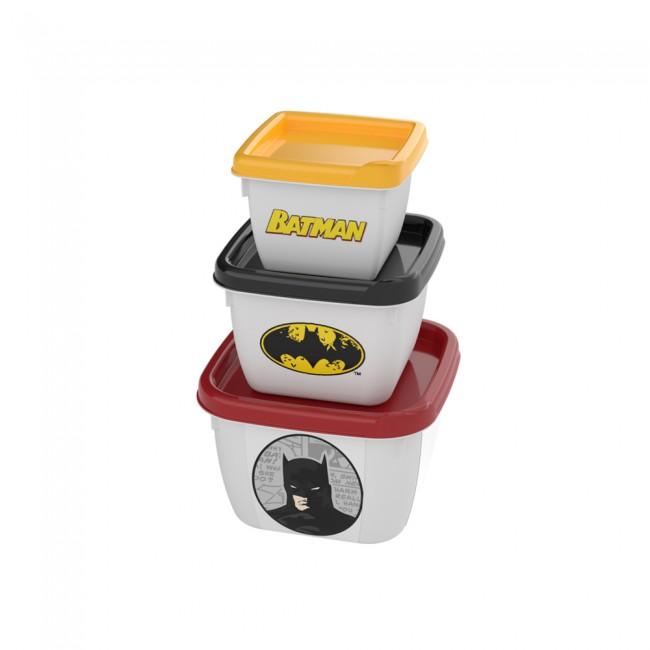 Conjunto Potes Batman - 3 unidades