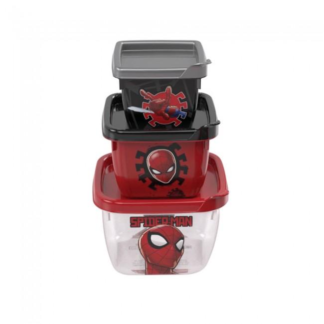 Conjunto Potes Homem Aranha - 3 unidades