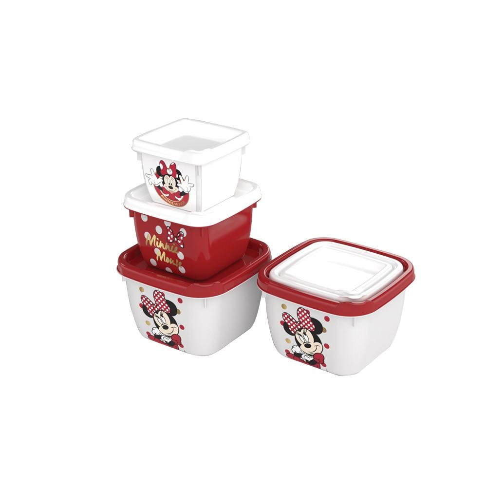 Conjunto Potes Minnie - 3 unidades