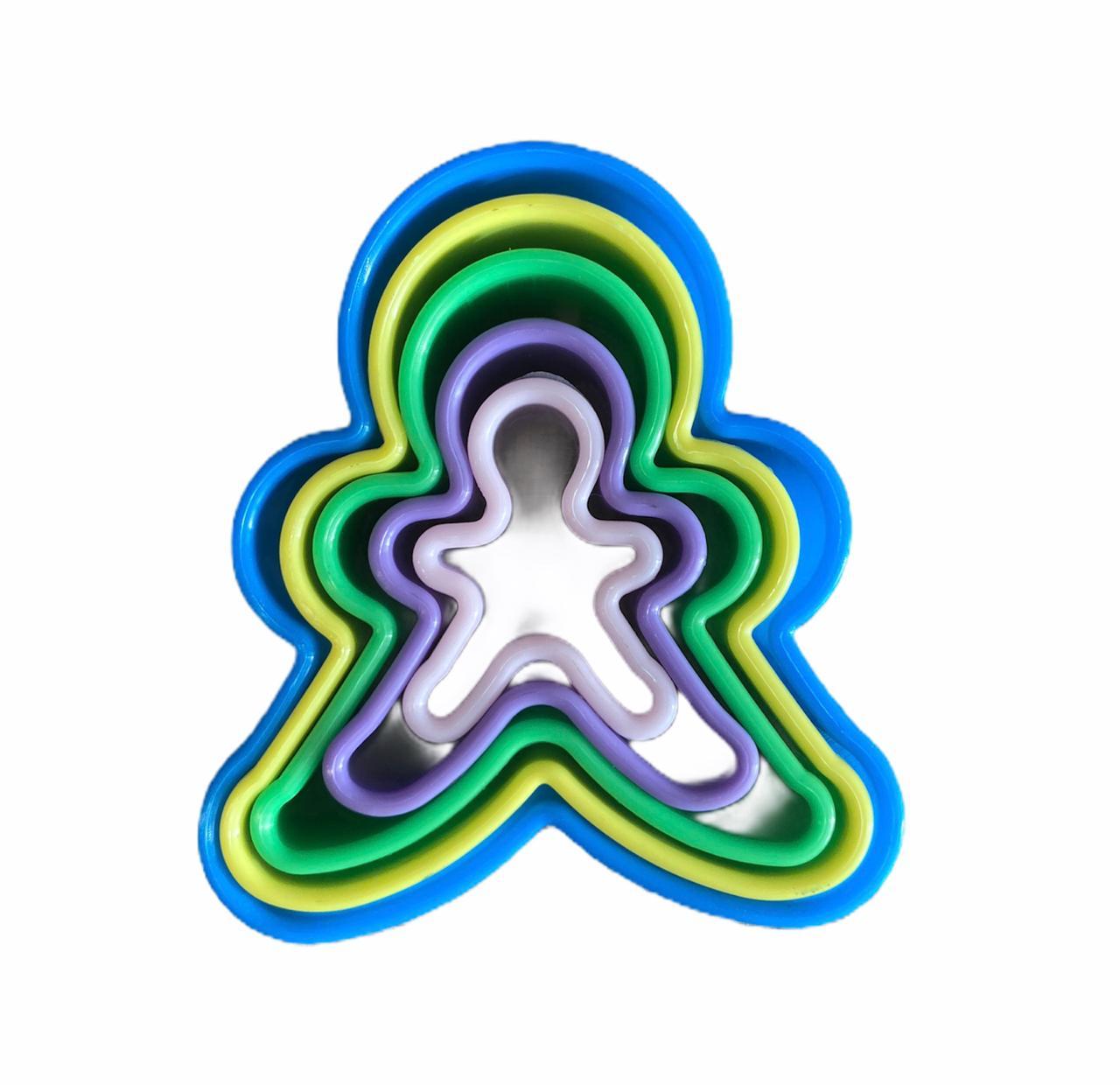 Cortador Boneco (5 peças)