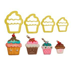 Cortador Cupcake (4 peças)