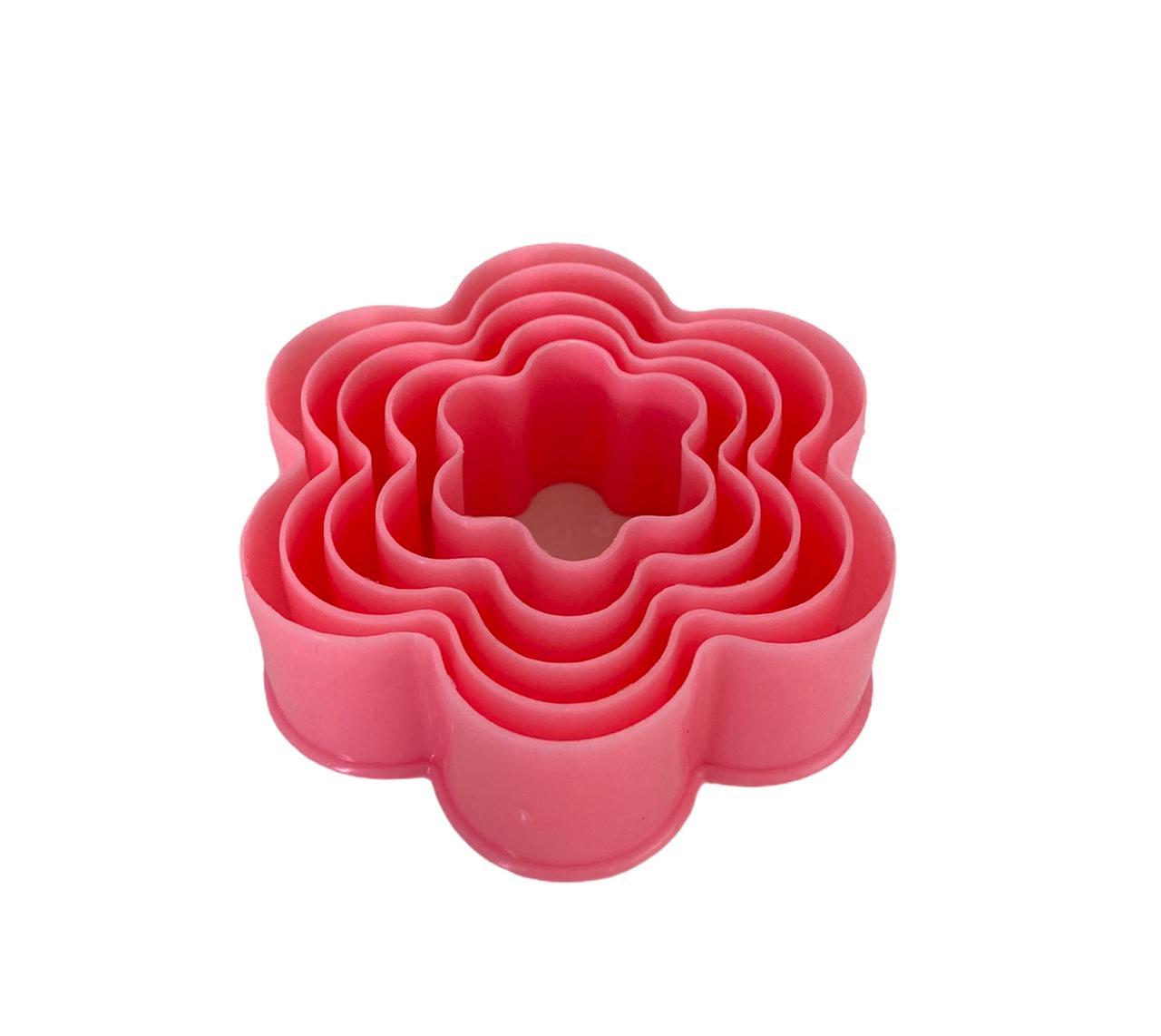 Cortador Flor Rosa (5 peças)