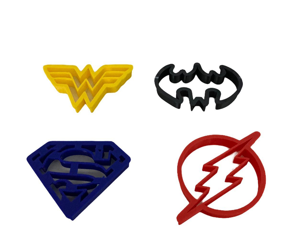 Cortador Heróis  Liga da Justiça (4 peças)