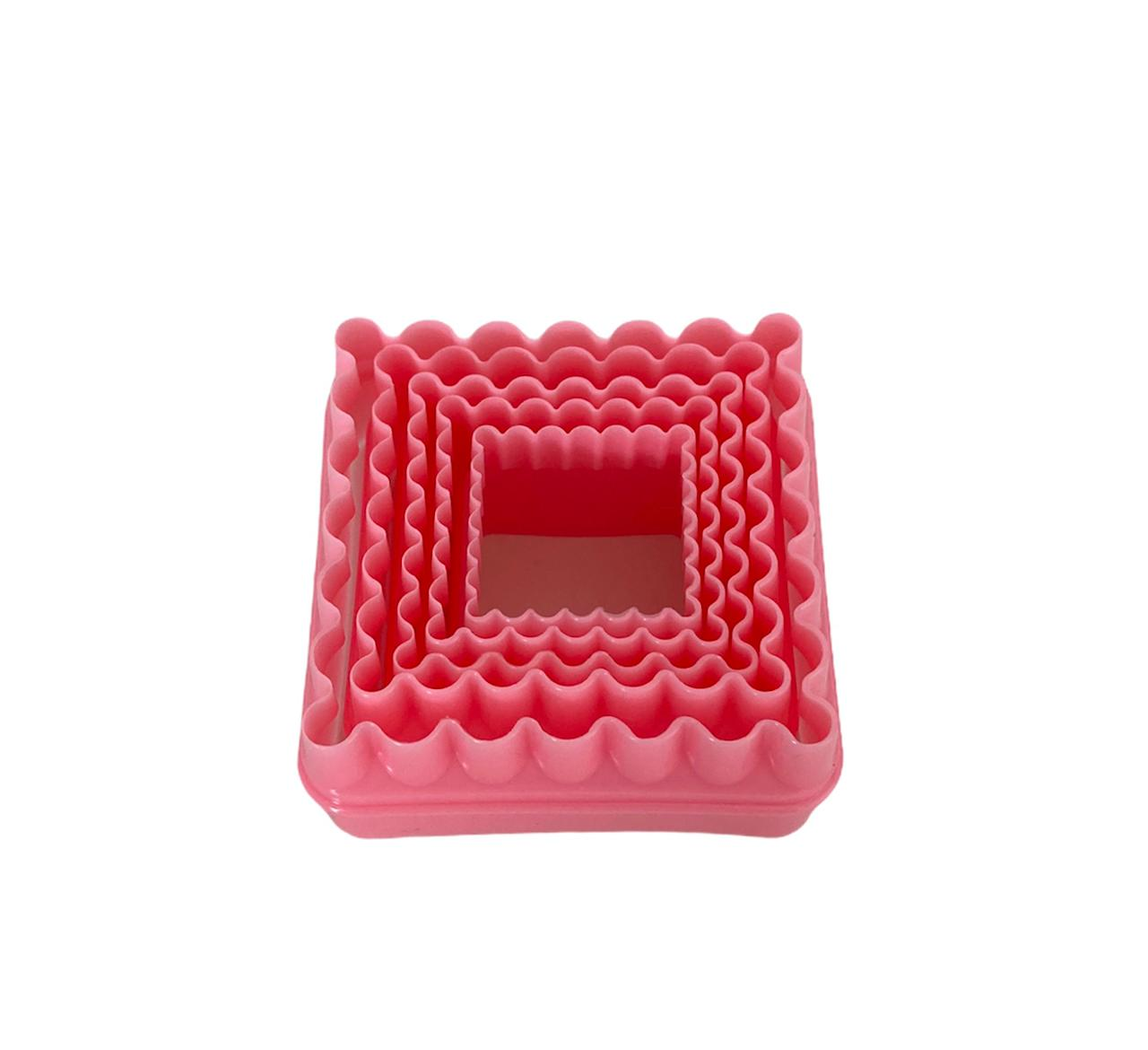 Cortador Quadrado (5 peças) - rosa ou azul