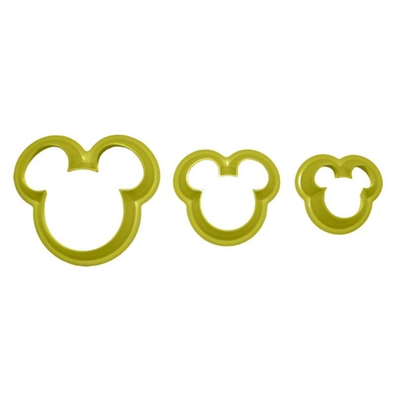 Cortador Mickey - grande (3 peças)