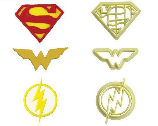 Cortador super-heróis Liga da Justiça (3 peças)