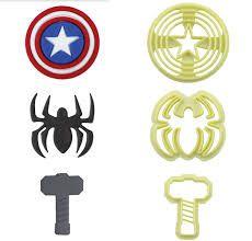 Cortador super-heróis Vingadores (3 peças)