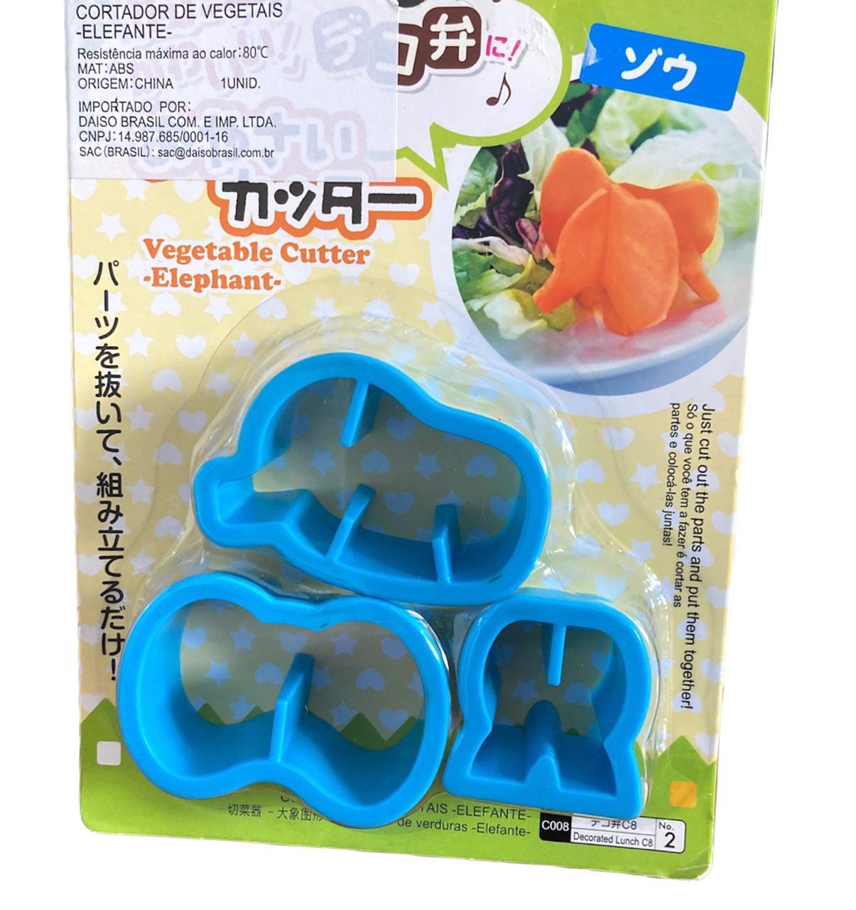Cortador Vegetais Elefante (3 peças)