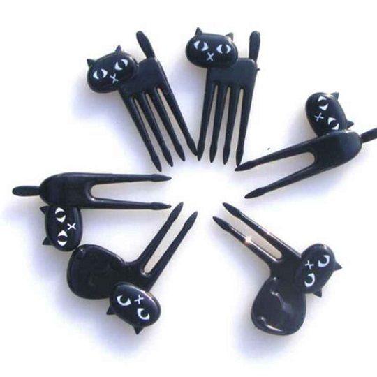 Espetinhos no formato de gato (6 unidades)