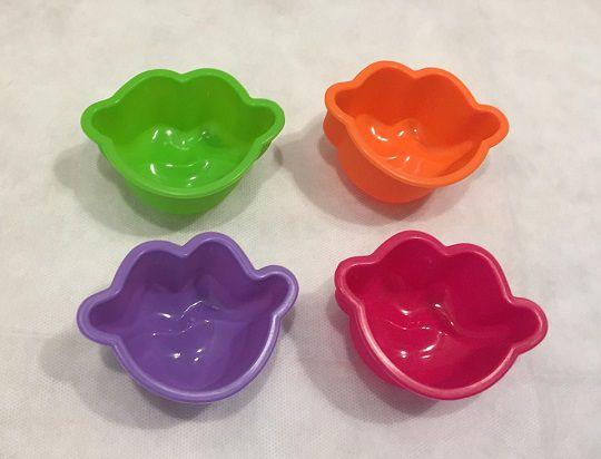 Forma de Silicone Cupcake - Boca (4 peças)