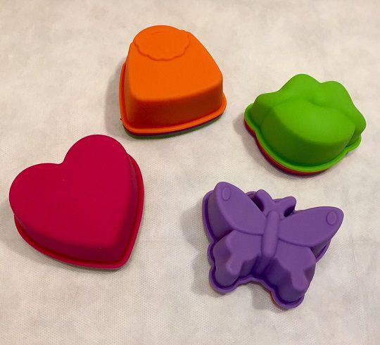 Forma de silicone para cupcake - bolsa (4 peças)