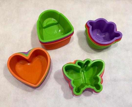 Forma de silicone para cupcake - coração (4 peças)