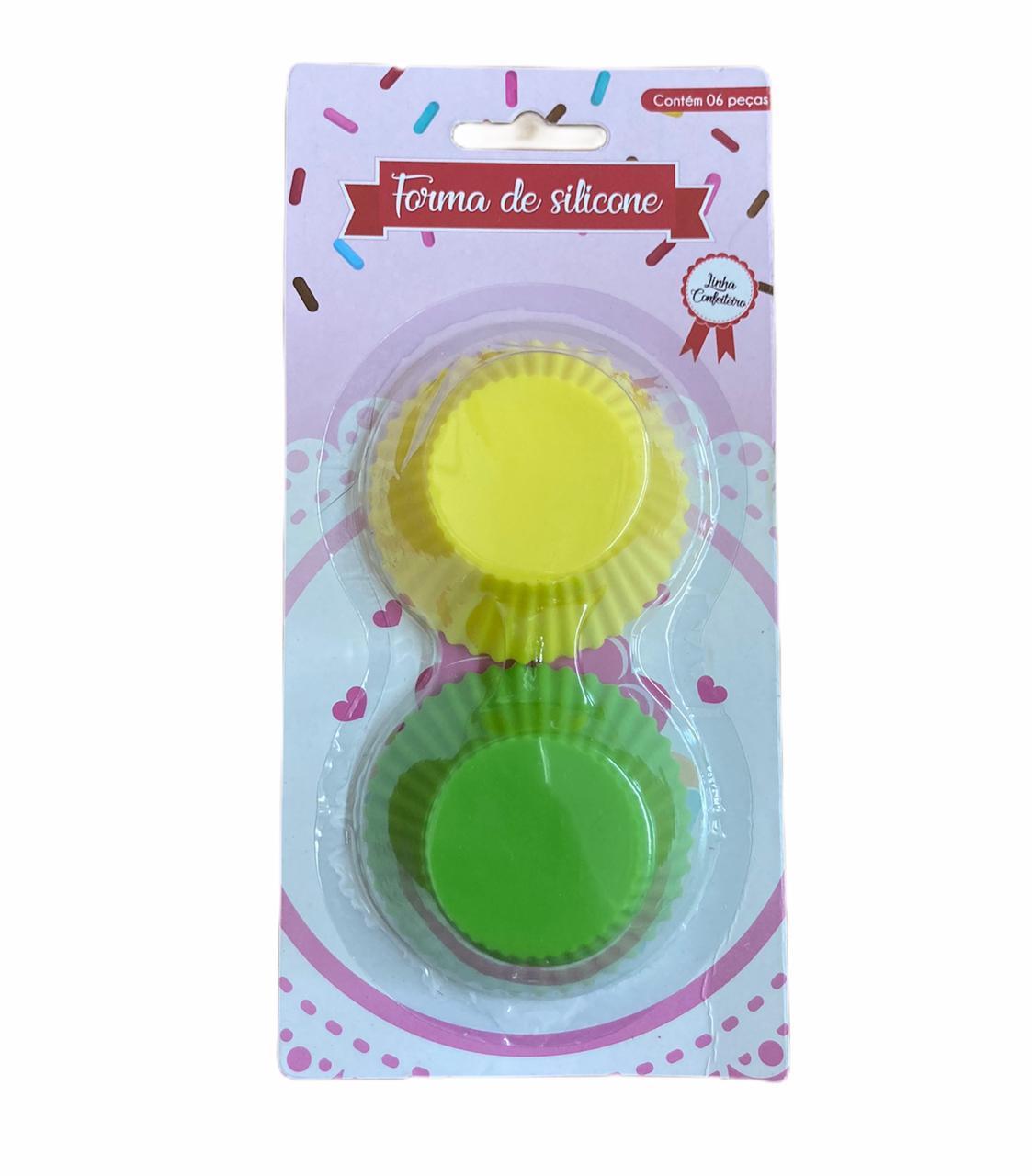 Forminhas Cupcake (6 peças) - diversas cores
