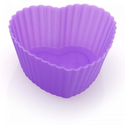 Forminhas de Silicone Cupcake Coração (6 peças)