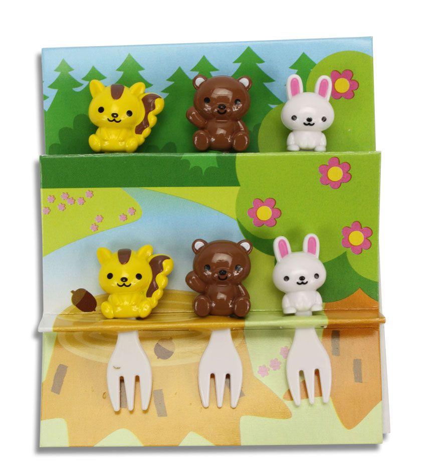 Garfinhos animais da floresta (6 unidades)