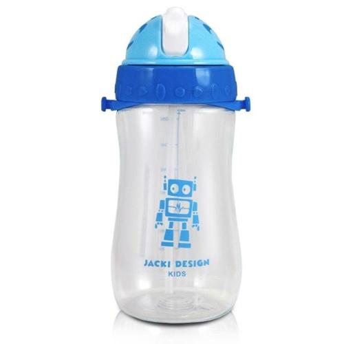 Garrafa de plástico c/ canudo Robô - 460 ml