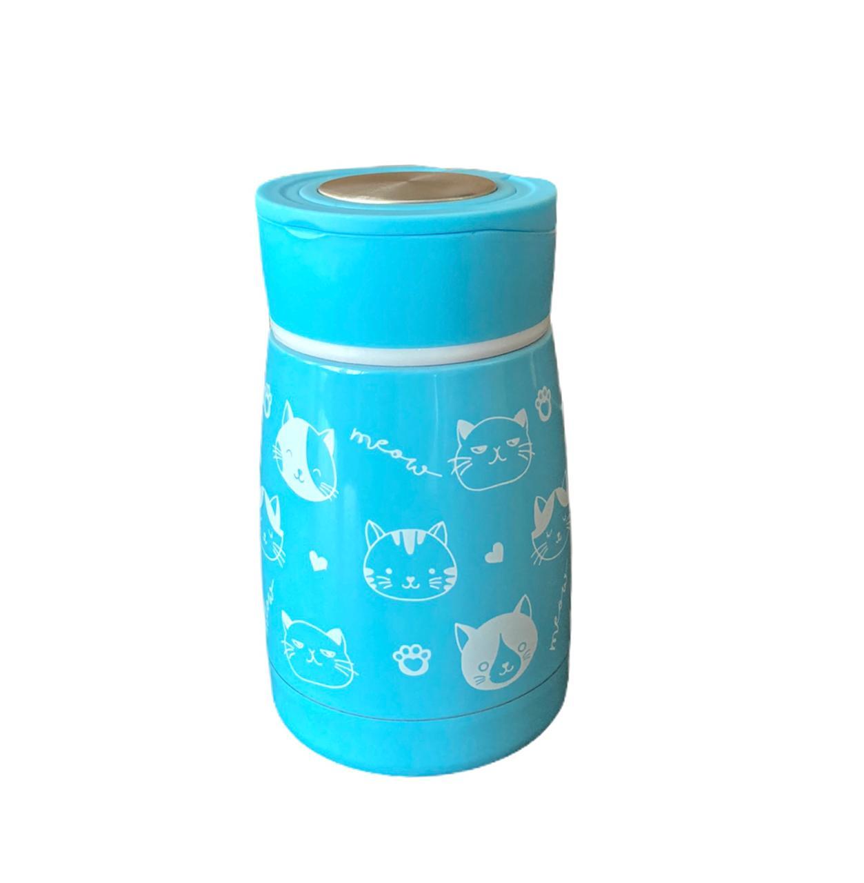 Garrafa Inox Azul c/ Tampa - 180 ml