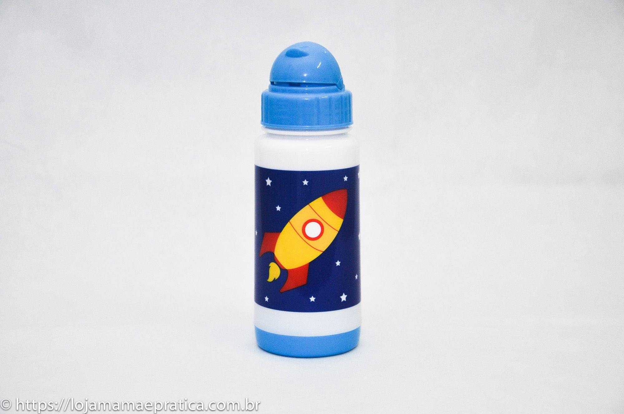 Garrafa plástica 330 ml com canudo