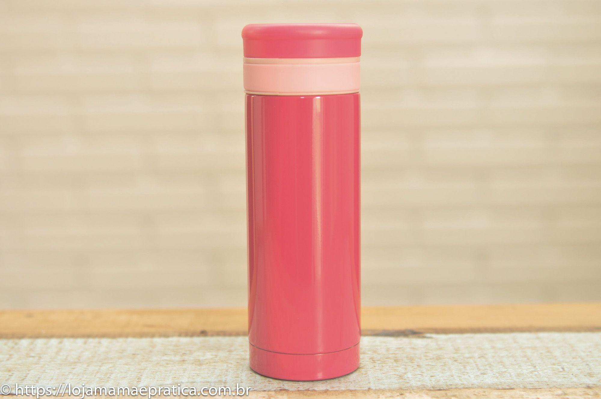 Garrafa térmica colorida de inox - 200 ml
