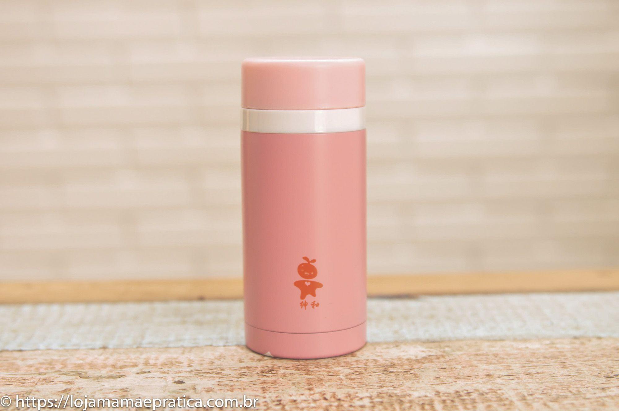 Garrafa térmica colorida de inox - 240 ml