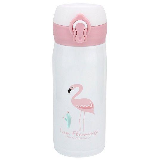 Garrafa térmica de inox Flamingo - 350 ml