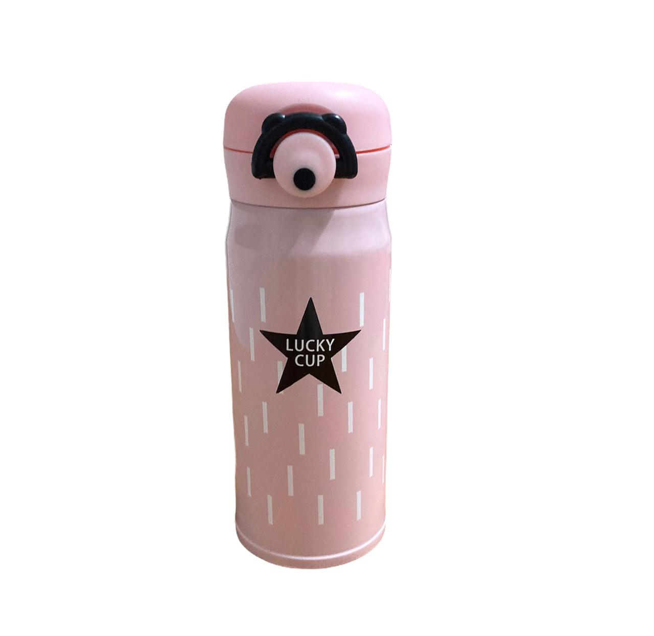 Garrafa Térmica Rosa Lucky Cup - 350 ml