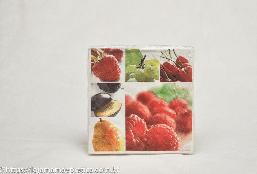 Guardanapos decorados - frutas diversas