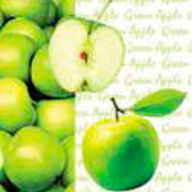 Guardanapos decorados - maçã verde