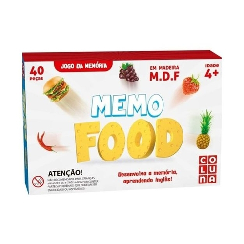 Jogo da Memória Memo Food