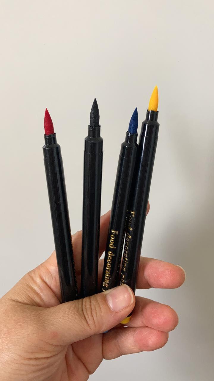 Jogo de canetas com tinta alimentícia (4 unidades)