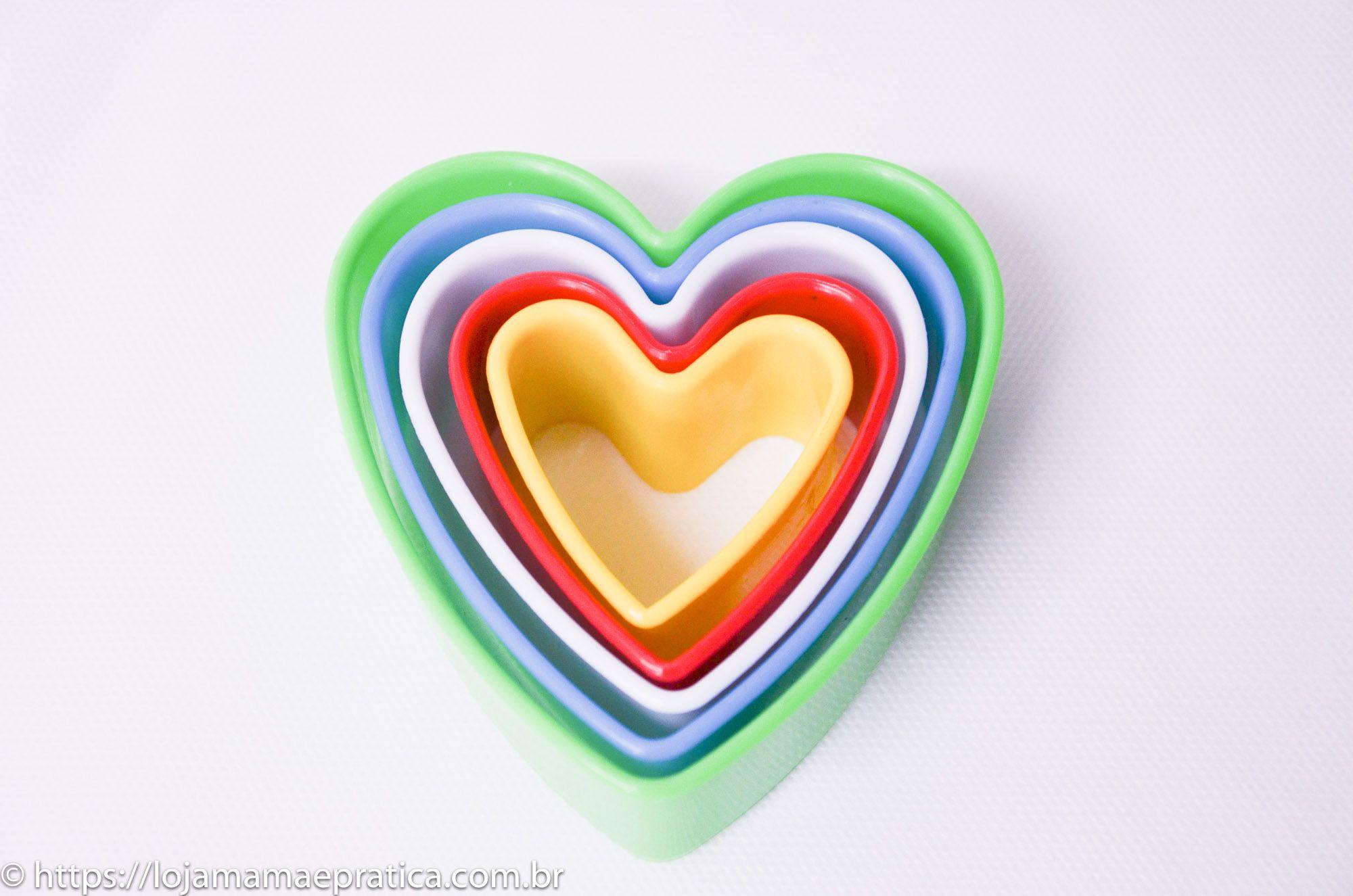 Cortador Coração (5 peças)
