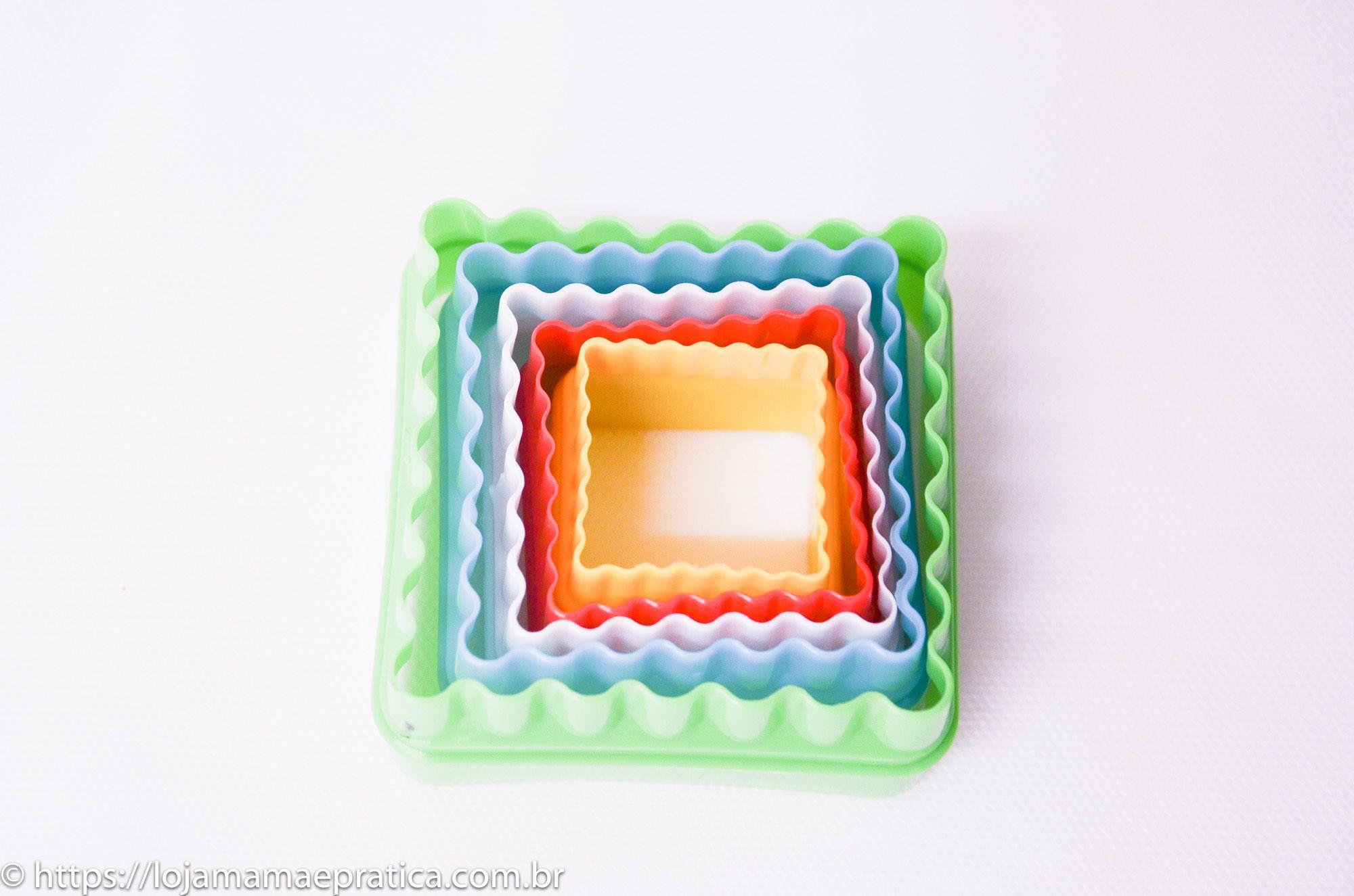 Jogo de cortadores em formato quradrado - 5 peças