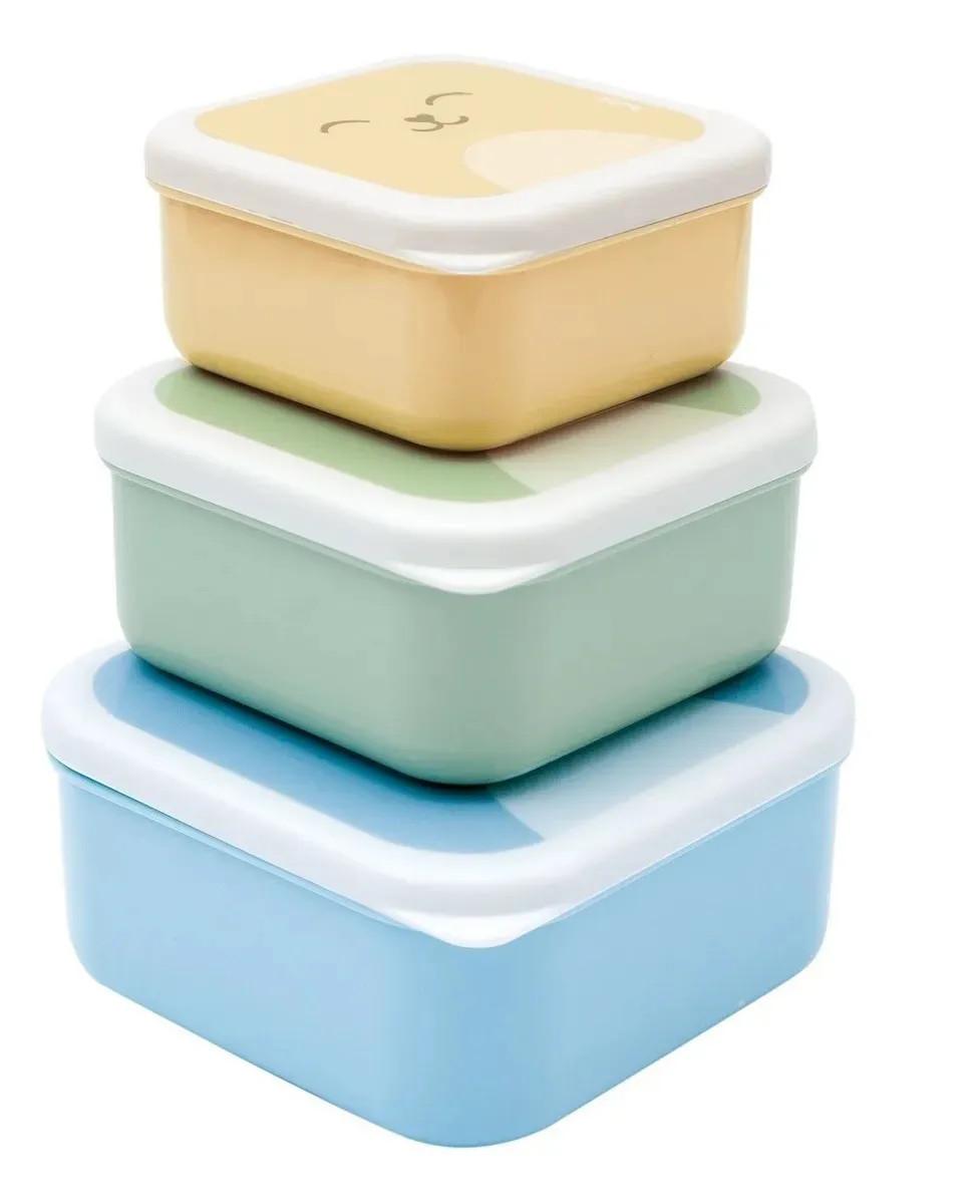 Kit 3 potinhos bichinhos - Azul