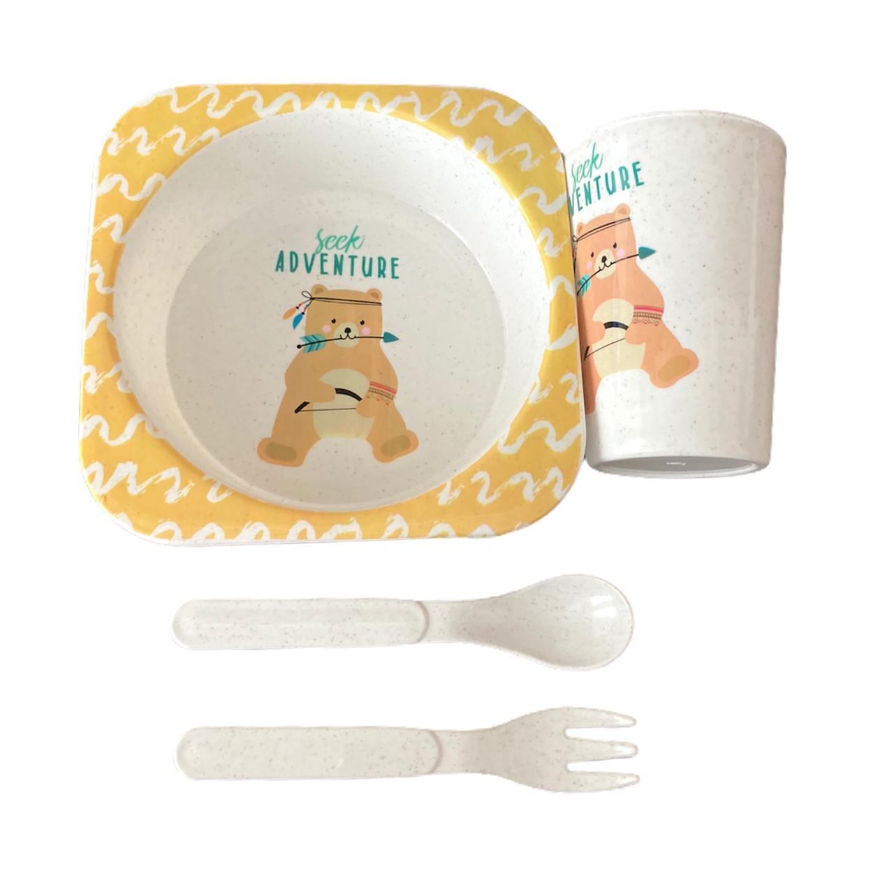 Kit Alimentação Urso - 4 peças
