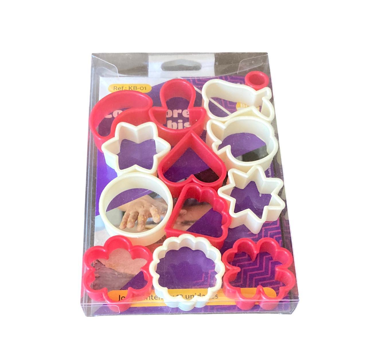 Kit cortadores coloridos - 13 peças