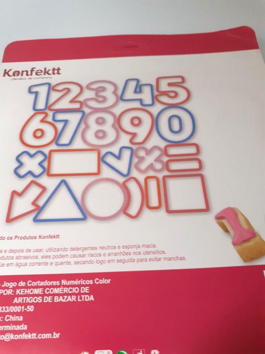 Kit Cortadores Numéricos - 21 peças