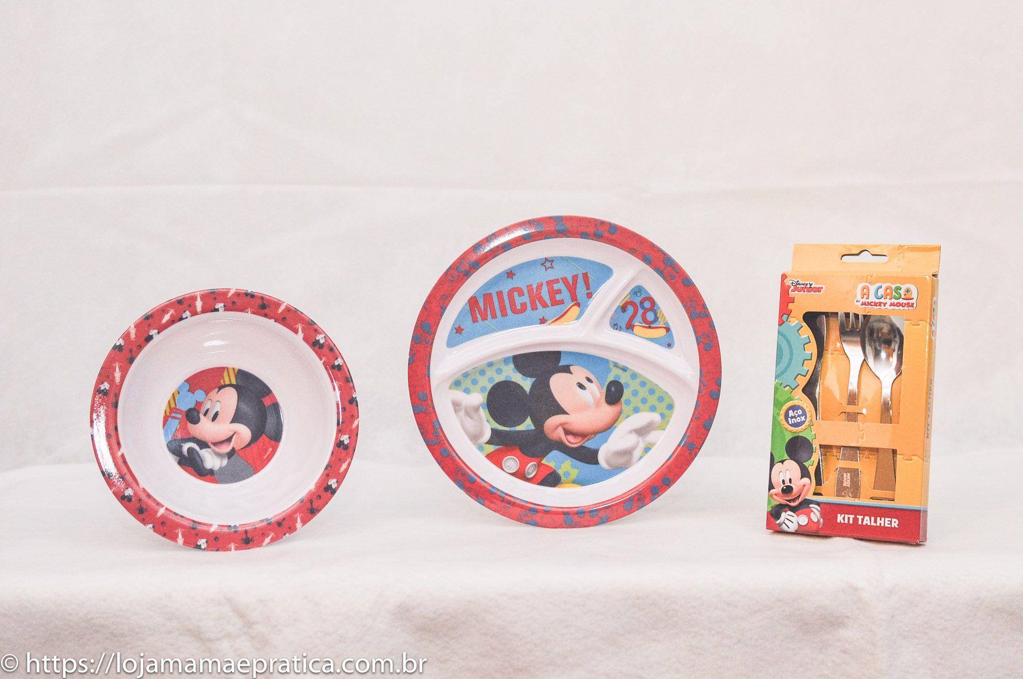 Kit infantil para refeição - Mickey Mouse