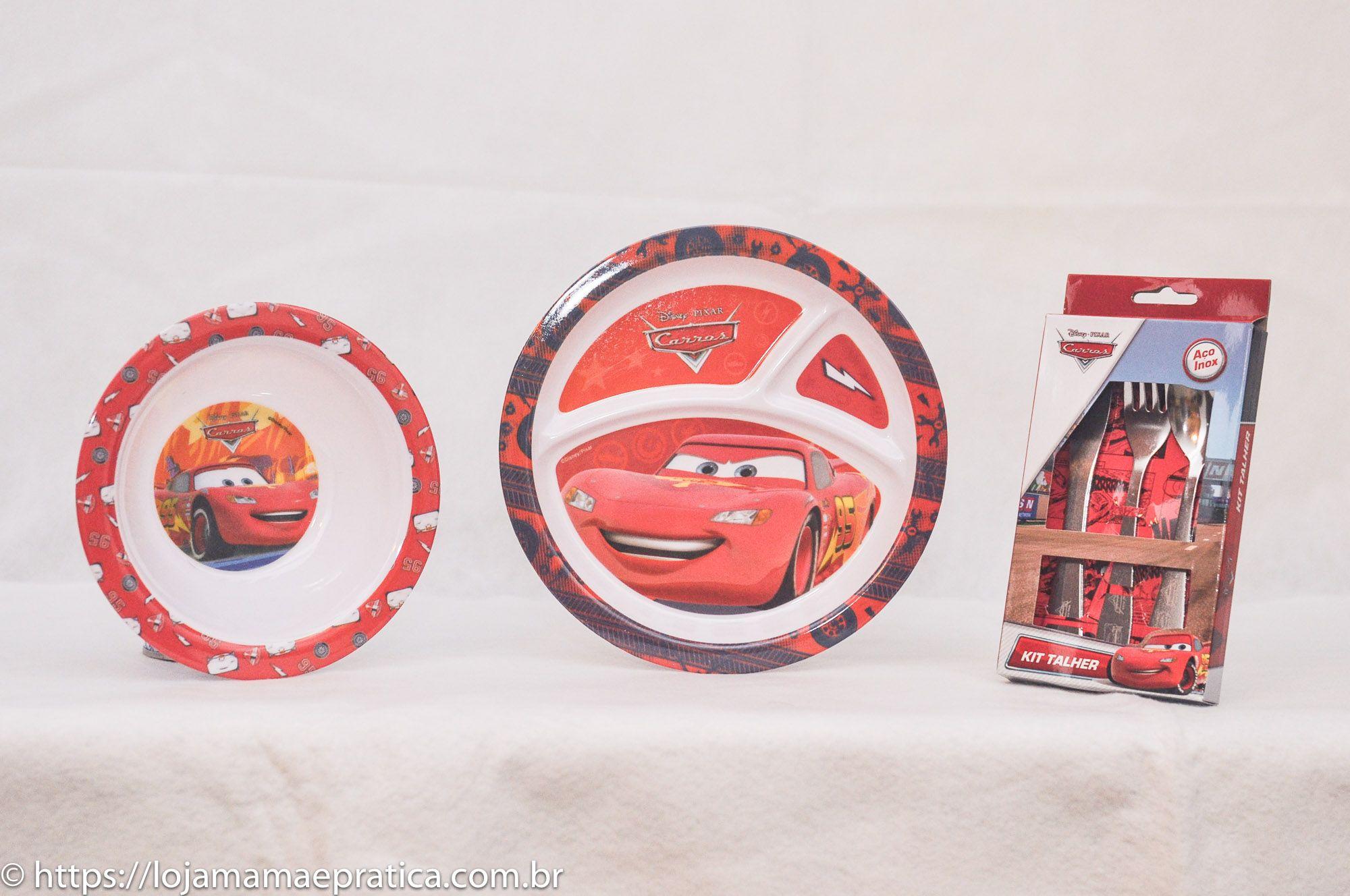 Kit infantil para refeição - Personagens dos desenhos