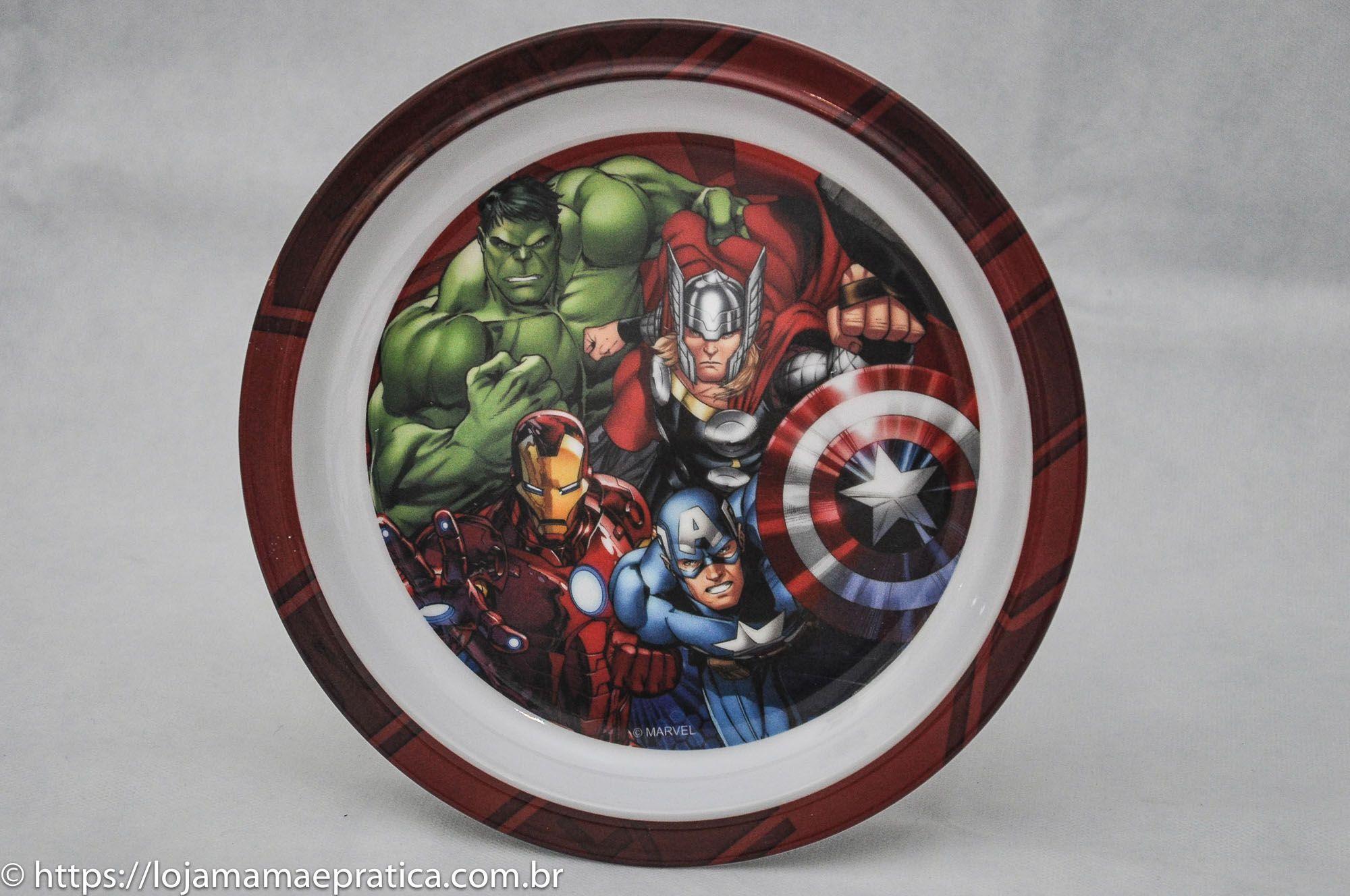 Kit infantil para refeição - Os Vingadores (6 peças)
