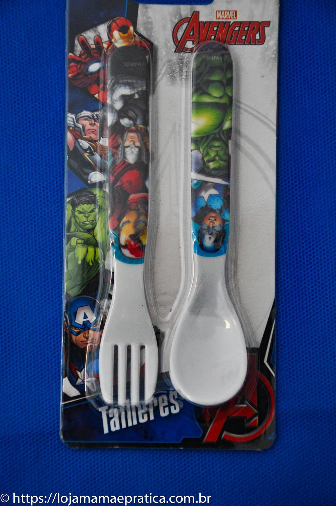 Kit infantil para refeição - Personagens - Os Vingadores