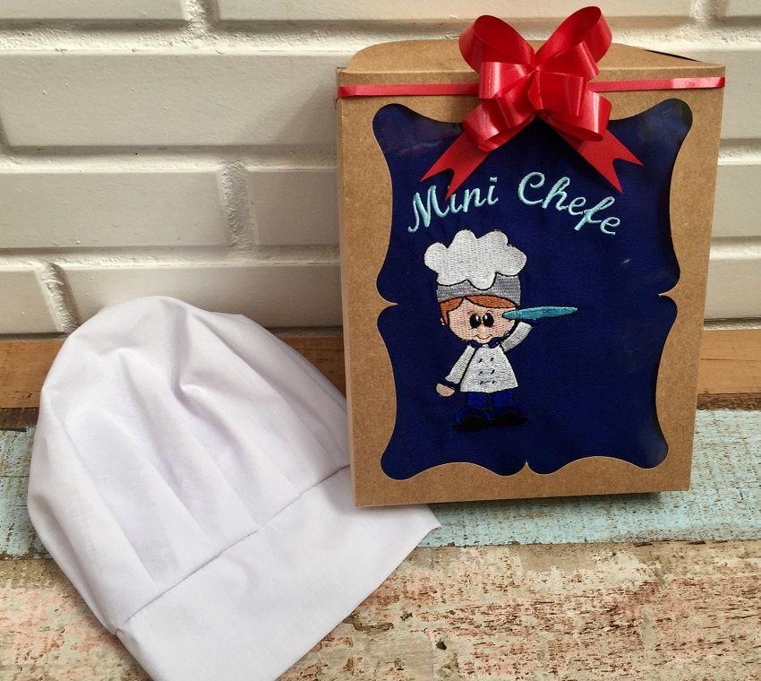 Kit Mini Chef - menino (azul claro ou azul escuro)