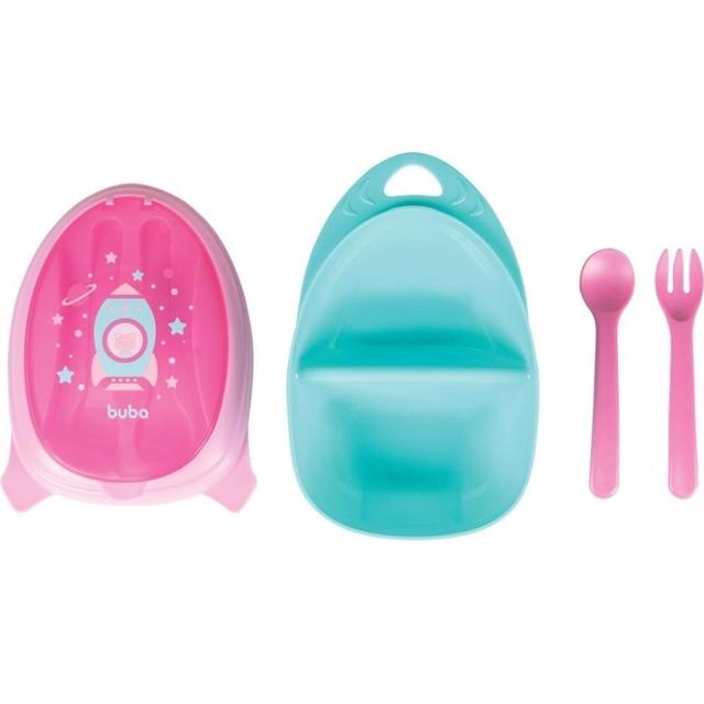 Kit Refeição Foguete Rosa