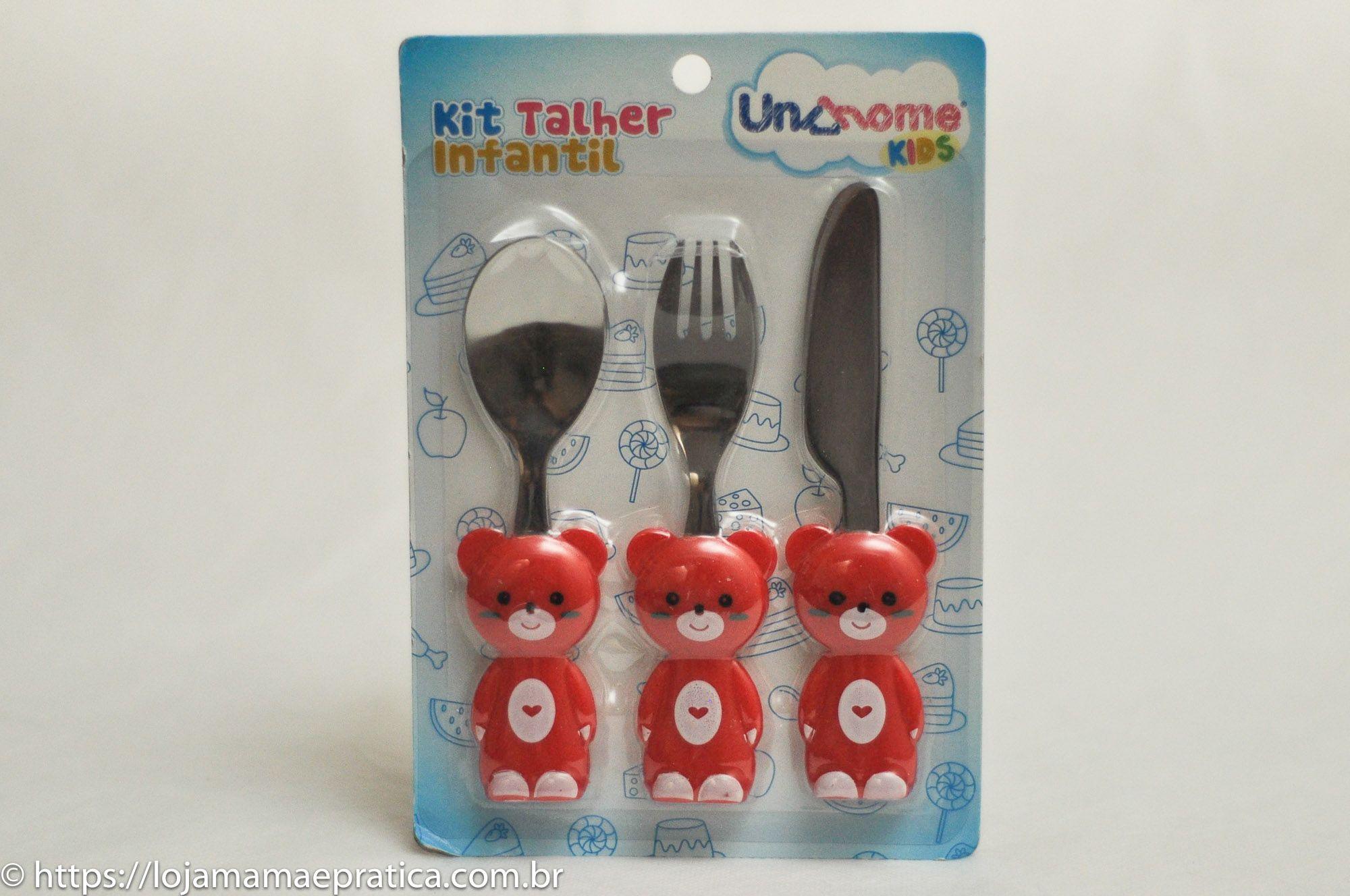 Kit Talher Infantil - Vários bichinhos