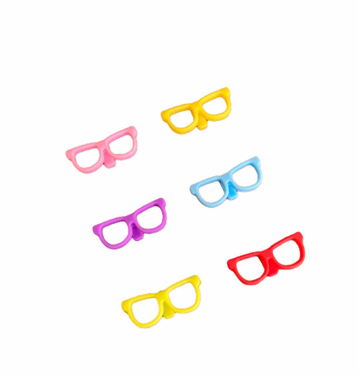 Marcador de Copos Óculos - 6 unidades