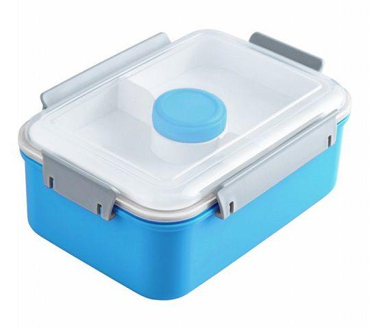 Marmita c/ 3 compartimentos + pote molho  (1400 ml)