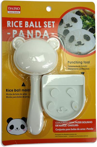 Molde de arroz - panda